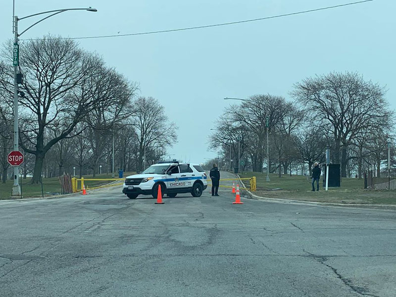 Police closing Montrose Point