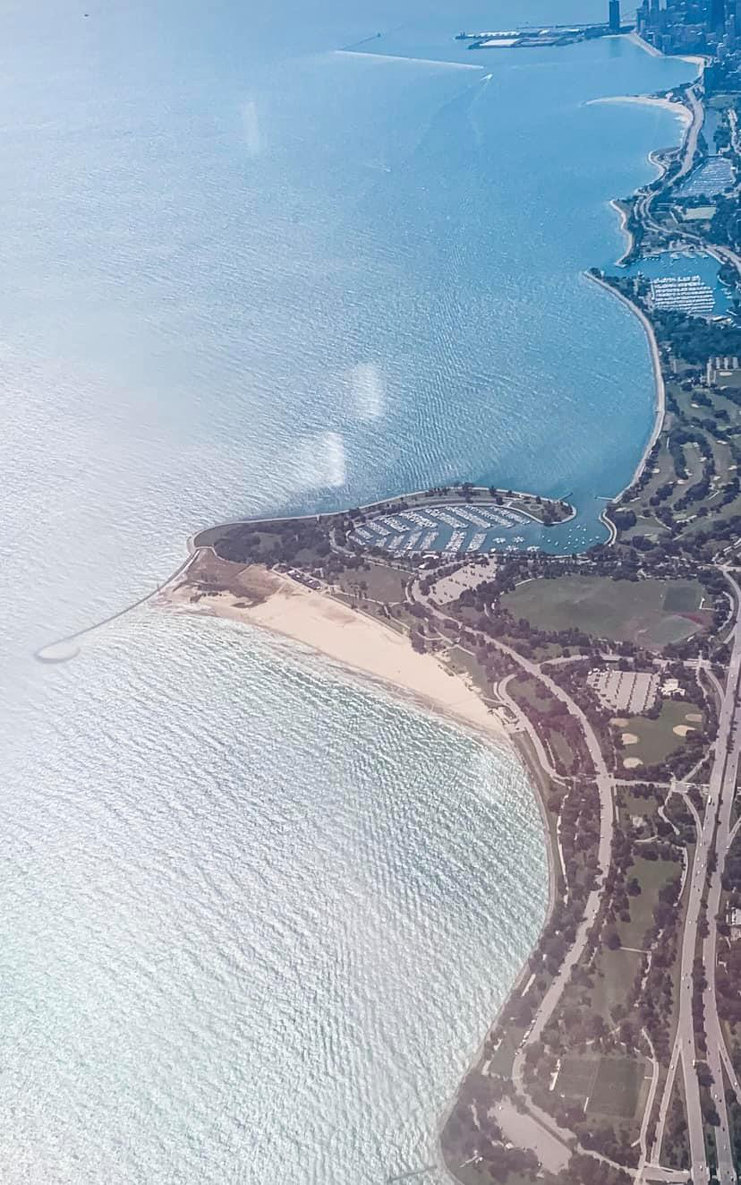 Aerial view of Montrose Point